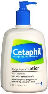 Dailyadvance Ultra Hydrating Lotion - Cetaphil DailyAdvance Ultra Hydrating Lotion for Dry/Sensitive Skin 16 oz (8pk)