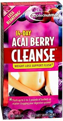 Applied Nutrition 14-Day Acai Berry Cleanse Tablets 56 Tablets Acai Cleanse Acai Berry