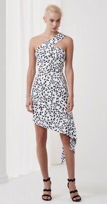 NWT Keepsake Australian Label/Fashion Overpower Assymetrical Short Dress Size S