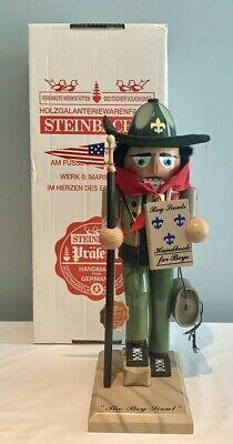 "STEINBACH German NUTCRACKER S899 THE BOY SCOUT 15"" Tall ORIGINAL BOX & TAG"