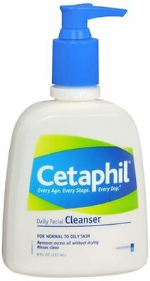 Cetaphil Daily Facial Cleanser for Normal/Oily Skin 8 oz