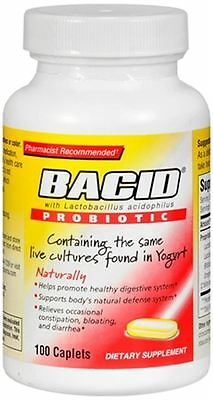 Bacid Probiotic Caplets 100 Caplets (Pack of -