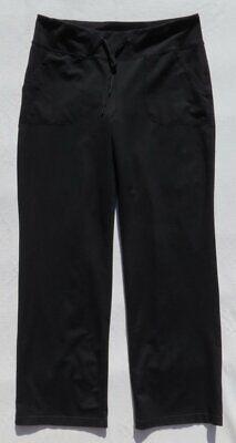 ZELLA Nordstrom Black Drawstring Pants Knit Straight Leg Lounge Pockets US M 10