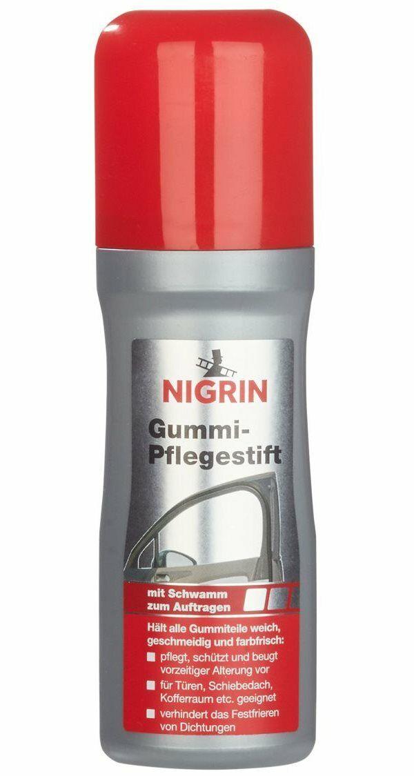 (0,65€/10ml) NIGRIN Gummi-Pflegestift mit Schwamm Türgummi Dichtungen - 75 ml