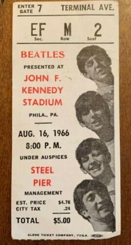 Rare Aug. 16,1966 Beatles Concert Ticket Stub J.F.K. Stadium PSA/DNA Guaranteed