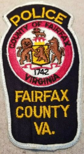VA Fairfax County Virginia Police Patch