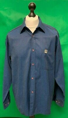 Mens Genuine Versace Collection Smart Shirt Blue Excellent Condition Size Large