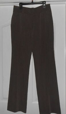 0b6bed4e94a2f7 DKNY Heather Brown Flat Front Dress Slacks Pants - Size 0