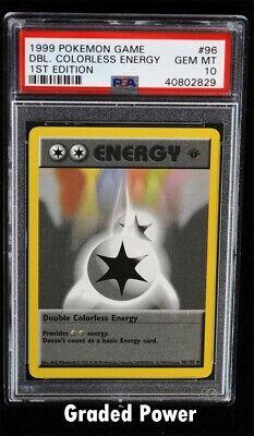 Pokemon Base Set 1st Edition Double Colorless Energy PSA 10 (2829) 96/102  ()