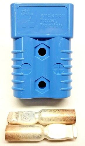6326G6 Anderson Original SB 175 Battery Connector Blue #4 AWG