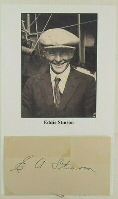 - Edward A. Stinson Aviation Pioneer Killed In Crash 1932 Autograph ''Rare'' .