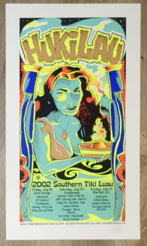 2002 1st Annual Hukilau - Ft. Lauderdale Silkscreen Concert Poster s/n by Hoffa
