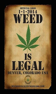 OFFICIAL LOGO WEED IS LEGAL IN COLORADO COLLECTOR'S POSTER