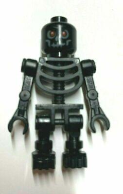 Black Lego Skeleton (Lego  Minifigure Castle  Skeleton Warrior, Black, Red Eyes , Fantasy Era )