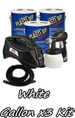 3 Gallons Matte White Performix Plasti Dip Dyc Dipsprayer Gun Bundle Kit