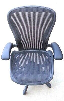 Herman Miller Aeron Chair Mesh Black Size C Large