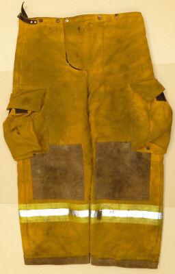 36x28 Pants Firefighter Turnout Bunker Yellow Fire Gear Fem P867