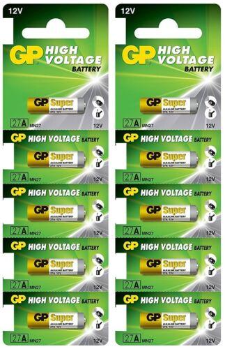 10 Pcs GP 27A GP27A 12V Alkaline Remote Battery 2018