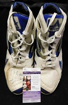 e4ce9ca47cd66b P.J. Brown Signed NBA Basketball Game Used LA Tech Shoes Size 16 JSA Auth.