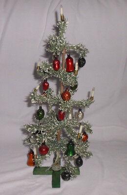 ***Alter Antiker Christbaum Weihnachten elekt. Federbaum 25 Kugeln***
