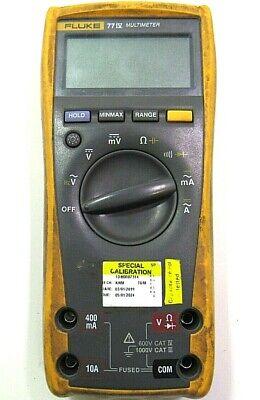 Fluke 77 Iv Industrial True Rms Digital Multimeter- As Is -free Shipping-