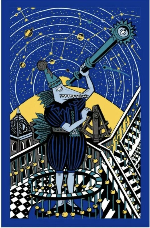 Jim Pollock Neo Blue Variant Phish Sold Out screenprint poster LE Signed Number