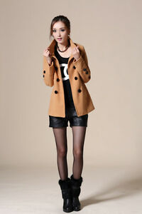 2012 Korean version New women's fashion slim wool coat jacket 5 color