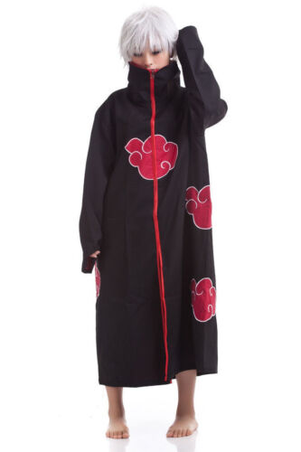 Naruto Akatsuki Uchiha Itachi Costume Robe Cloak Cape for Cosplay Size: L Large