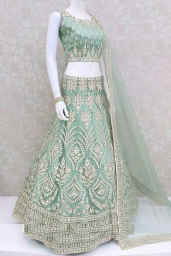 New Indian Designer Bridal Bollywood Party Lengha Floral Pakistani Lehenga Choli