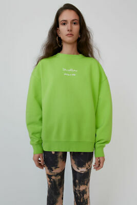 Acne Studios Broken-logo sweatshirt Neon yellow S