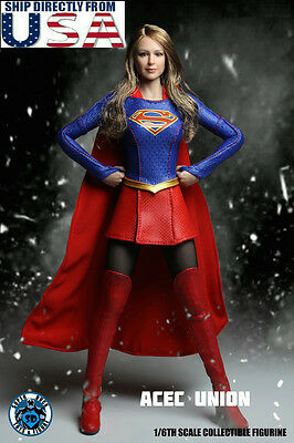1/6 SUPERGIRL Head Sculpt Suit Set For 12
