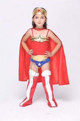 Superwoman Halloween Costumes Girl's Cosplay Costumen Kids Costumes for Girls - Superwoman Costumes For Girls