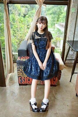Gothic Lolita Jsk Dress Black Tunic Night Sky Constellation Angel Pattern