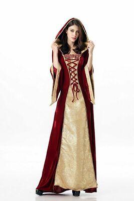 Women Halloween European retro palace dress, luxurious queen Cosplay Costume - White Castle Halloween Costumes