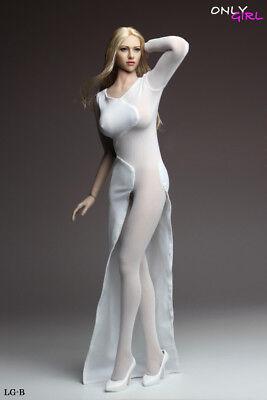 Female Doll Costume (ONLYGIRL 1/6 Female Long Dress White Charming Costume Model Fit 12