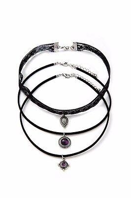 3 Piece Unique Vintage Choker Necklace with