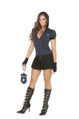 NWT sexy ELEGANT MOMENTS police OFFICER cop MIRANDA rights PRISON guard COSTUME](Prison Guard Costumes)