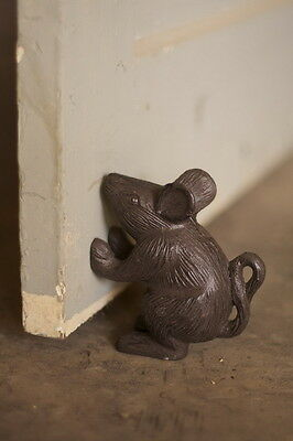 Vintage Antique Old Look Cast Iron Mouse Rat Rustic Door Stop  Home Garden Decor