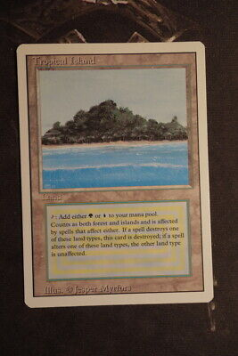 Revised Tropical Island - MINT Condition from starter pack - MTG Magic