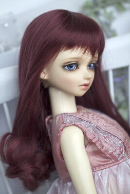 Big sale BJD wigs medium length curly hairs wine red color for 1/3 BJD SD - Red Wigs For Sale