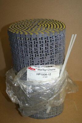 "Conveyor belt, 12"" x 10 ft, MatTop Rexnord HP1506 12 Unused"