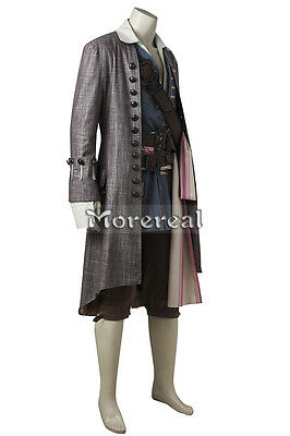 Costume Pirates of the Caribbean Jack Sparrow Cosplay Dead Men Tell No Tales New