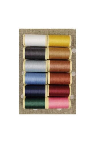 Gloving THREAD Fil au Chinois #3 VINTAGE Tones Asst Set APPLIQUE of 12 w/Box