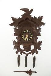 August Schwer Clock VINTAGE CUCKOO CLOCK EXCELLENT CONDITION WITH UN... Lot 4083