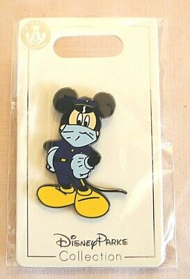 FANTASY Disney Pin Police Officer Mickey Face Mask and Gloves FAN MADE PIN  2""