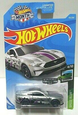 2019 Hot Wheels Speed Blur 2018 Ford Mustang GT 113 Zamac