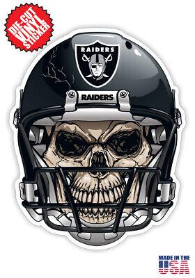 Las Vegas Raiders Skull Helmet Sticker Pack! 4 Stickers Included! 40%OFF