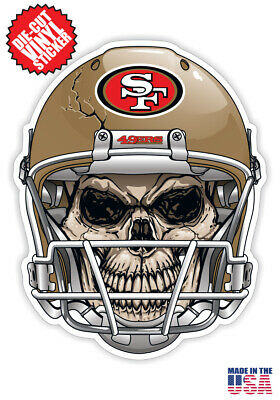 San Francisco 49ers Skull Helmet Sticker Pack! 4 Stickers Included! 40%OFF