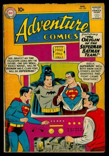 DC Comics ADVENTURE Comics #275 Origin Of The SUPERMAN-BATMAN Team VG 4.0