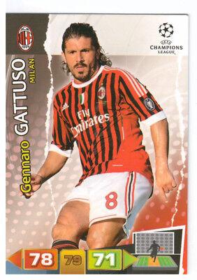 166 GENNARO GATTUSO UEFA CHAMPIONS LEAGUE 2011 2012 ADRENALYN XL 10